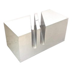Italian Space Age Tray Table with Magazine Rack by MarCo for Zanuso Bilumen 1974