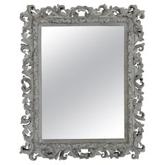 Large Plaster Baroque Mirror in the Style of Serge Roche