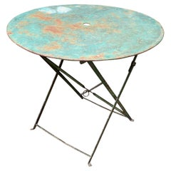 Small Green Painted Folding Garden Table