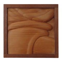 1980s Wooden Wall Sculpture by Ian Gordon 'Pachyderm'