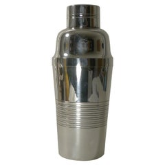Smart French Art Deco Silver Plated Cocktail Shaker c.1930