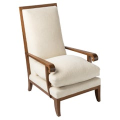 Rare Armchair in the Style of André Arbus, France 1940's
