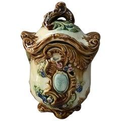 French Majolica Tobacco Jar Onnaing, Circa 1890