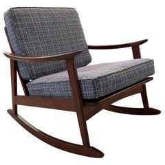 Danish Modern Teak Rocking Lounge Chair