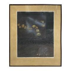 Hiroyuki Tajima Signed Limited Edition Abstract Zen Japanese Woodblock Print
