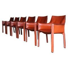 "Mario Bellini Leather ""Cab"" Chairs for Cassina, circa 1985"