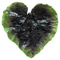 Oversize Majolica Leaf Vallauris Circa 1950