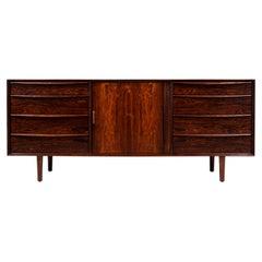 Svend A. Larsen Tambour-Door Rosewood Dresser for Falster Møbelfabrik