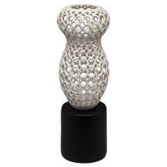 Cosette- Femme Collection-Pierced Ceramic Tabletop Sculpture-White