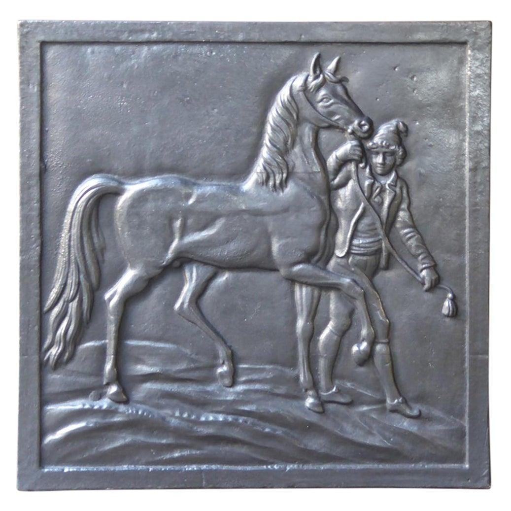 French Art Nouveau 'Horse' Fireback