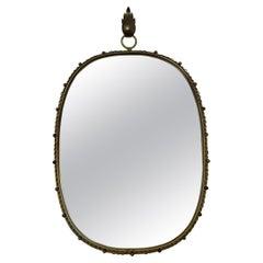 Midcentury Brass Wall Mirror by Josef Frank for Svensk Tenn, 1950s