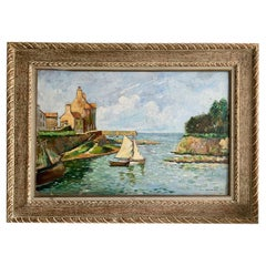 """Verbrugghe Charles """"Sailboat in the port"""""""