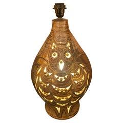 "Ceramic Lamp ""Owl"" by Georges Pelletier, France, 1960s"