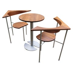 Listers Luytens Teak Tea for Two Bistro Set Atlantis Garden Table and Chairs