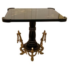 French Low Table with Aesthetic Movement Ormolu Base by Maison Giroux 1870's