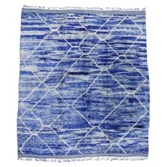 New Contemporary Berber Moroccan Rug with Postmodern Bohemian Style