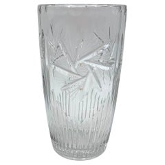 Midcentury Clear Vase, Poland, 1950s