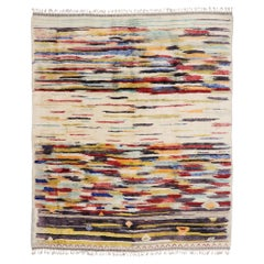 New Contemporary Berber Moroccan Rug Inspired by Sol LeWitt