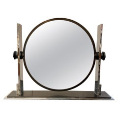 Rare Large Karl Springer Bronzed Dressing Table/ Vanity Mirror