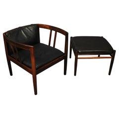 Wikkelso Holger Christiansen Lounge Chair & Ottoman
