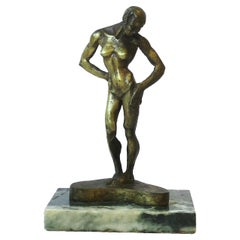 Female Figurative Bronze Sculpture by Michael Shacham, 1977, Signed Numbered