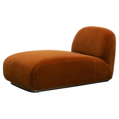Tacchini Victoria Chaise Longue with Tibouchina 07 Upholstery by David/Nicolas