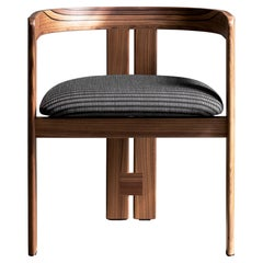 Tacchini Pigreco Armchair in Lippia 07 Upholstery with Canaletto Walnut Frame