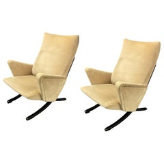 Exceptionally Rare Set of 2 Lounge Chairs by Arnold Bode