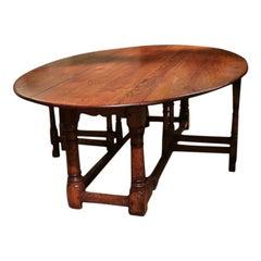 Large Oak Drop Leaf Table