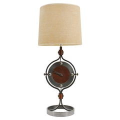 Jean-Pierre Ryckaert Large Mid-Century Clock Lamp, Ca.1950