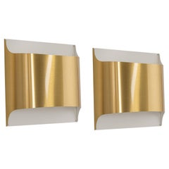 1 of 2 Wall Sconces Designed by Rolf Krüger for Staff, Germany, 1970s