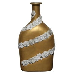 Gio Ponti Porcelain Bottle with Decoration for Richard Ginori, 1930s