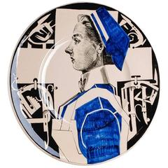 "Ravage No. 67 ""Nurse Betty"" Stoneware Plate, 1994"