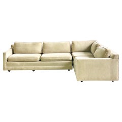 1980s Milo Baughman Style Three Piece L-Shaped Sectional