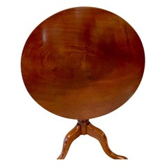 Quality Antique George III Mahogany Circular Tilt Top Centre Table