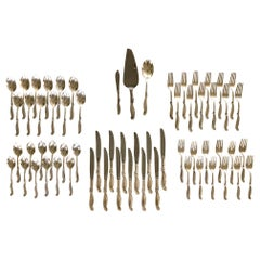 Silver Melody by International Sterling Silver Flatware Set for 12