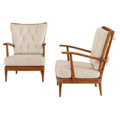 Pair of Armchairs Designed by Paolo Buffa, Certificated