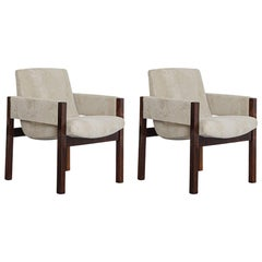 """Pair of """"Arco"""" Armchairs, by Sérgio Rodrigues, 1960, Brazilian Hardwood"""