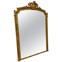 Late 19th Century Large Gold Leaf Mirror