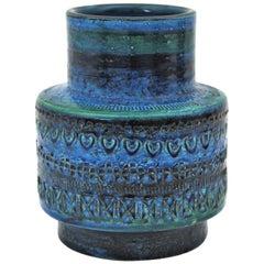 Bitossi Aldo Londi Rimini Blue Ceramic Vase