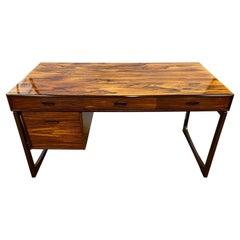 Danish Mid-Century Modern Floating Rosewood Desk