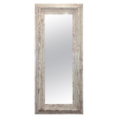 Mirror made from 1800s Brownstone Molding Original Paint