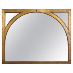 1920s Copper Clad Arched Window Mirror from a NYC Building