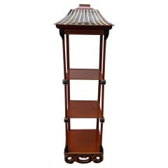 Chinoiserie Pagoda Style Three Tier What Not