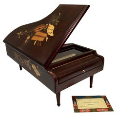 Finest Quality Reuge Swiss 3.72 Note Grand Piano Inlaid Music Box Plays 3 Songs