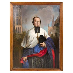German School, 19th Century Portrait of a Church Official / Prelate Dated 1864
