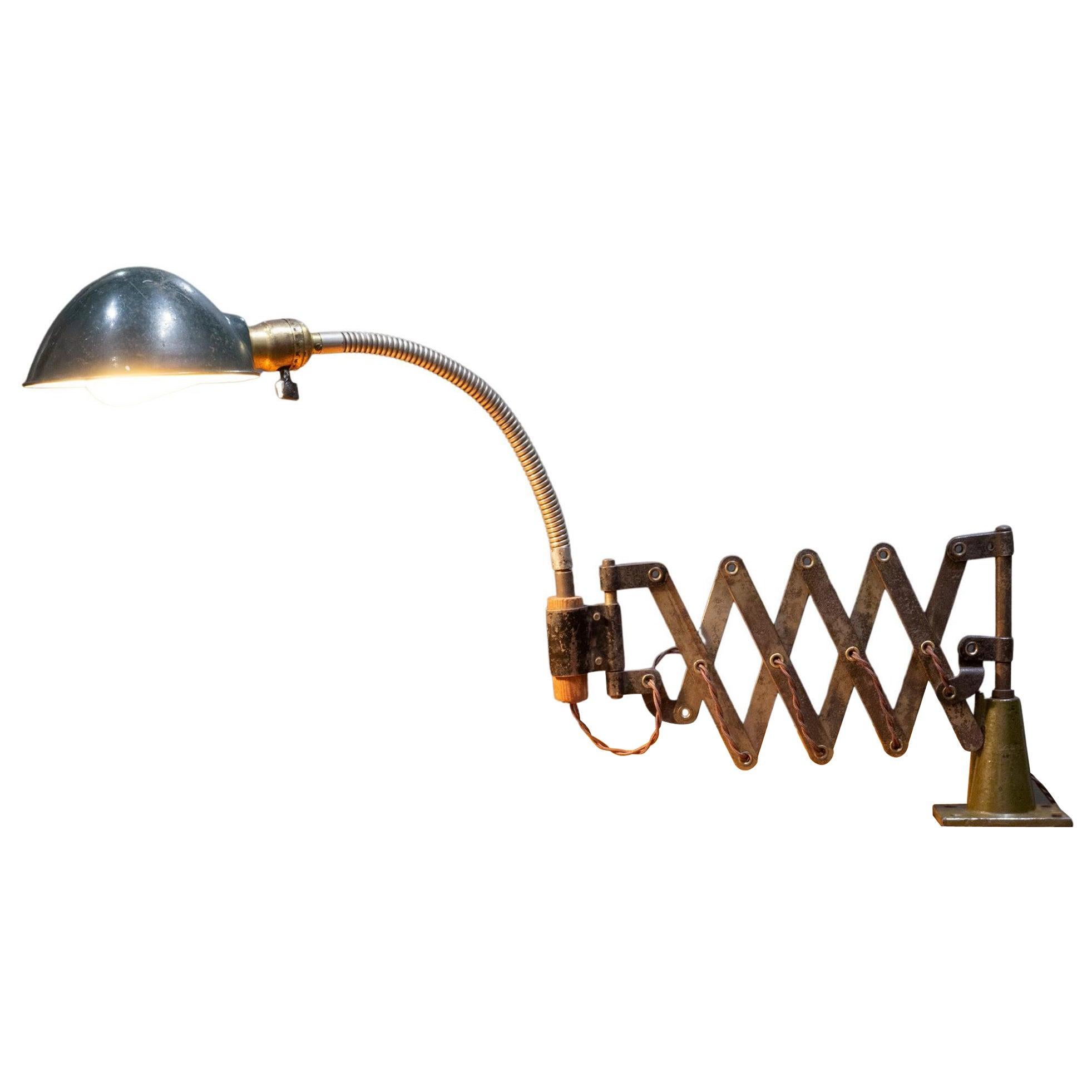 Industrial Scissor Task Lamp c.1930