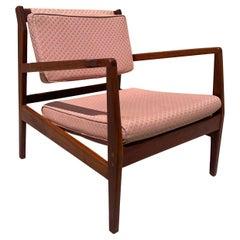 Jens Risom Lounge Chair in Solid Walnut
