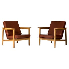 Pair of Lounge Chairs by Carl-Axel Acking for Nordiska Kompaniet, Sweden, 1950s
