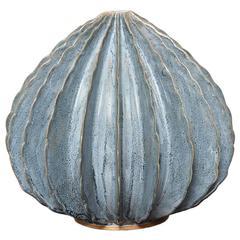 Bill Hudnut Ceramic Medium Pod in Silky Blue Glaze